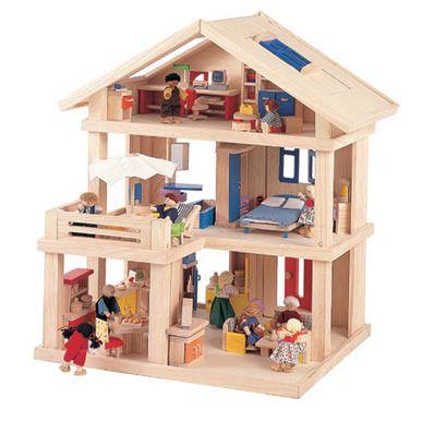 Amazon.com: Plan Toys Plan Toys Dollhouse Series Terrace Dollhouse: Toys & Games