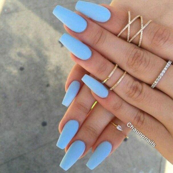 P I N T E R E S T Munurnajima Blue Acrylic Nails Periwinkle Nails Nail Designs