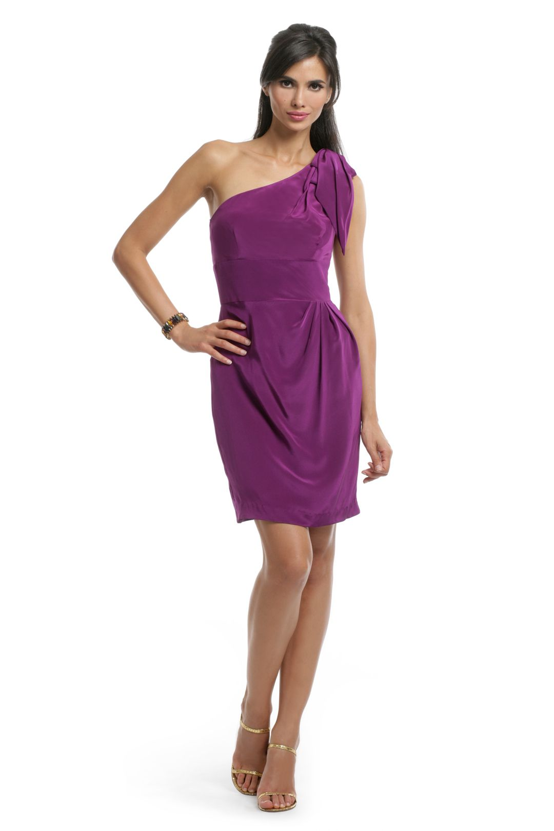 Trina Turk Purple Bow Shoulder dress   Dresses   Pinterest