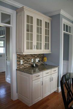 Seekonk Ma Kitchen Traditional Kitchen Waypoint Cabinets Maple Cream Espresso Kitchen Cabinets Espresso Cabinets Painting Kitchen Cabinets