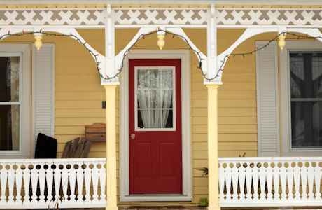 yellow house, red door | for the outside | pinterest | how to
