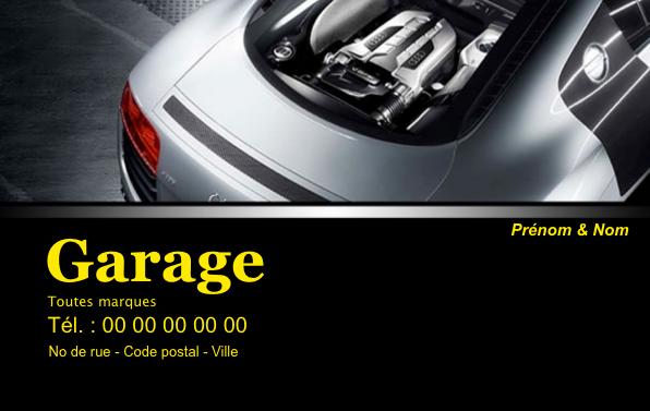 Carte De Visite Garage Auto Creez Gratuitement A Partir Modele En Ligne Votre