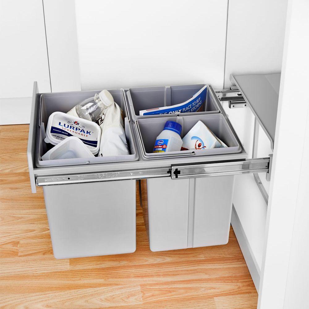 Wesco Bin Trio Master Waste Built in kitchen bins