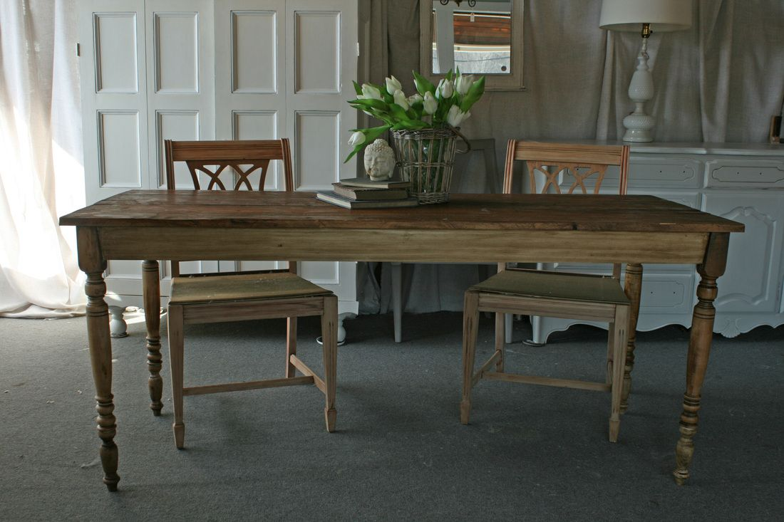 New Farm Tables - crafted from all reclaimed materials.  Custom sizes available.