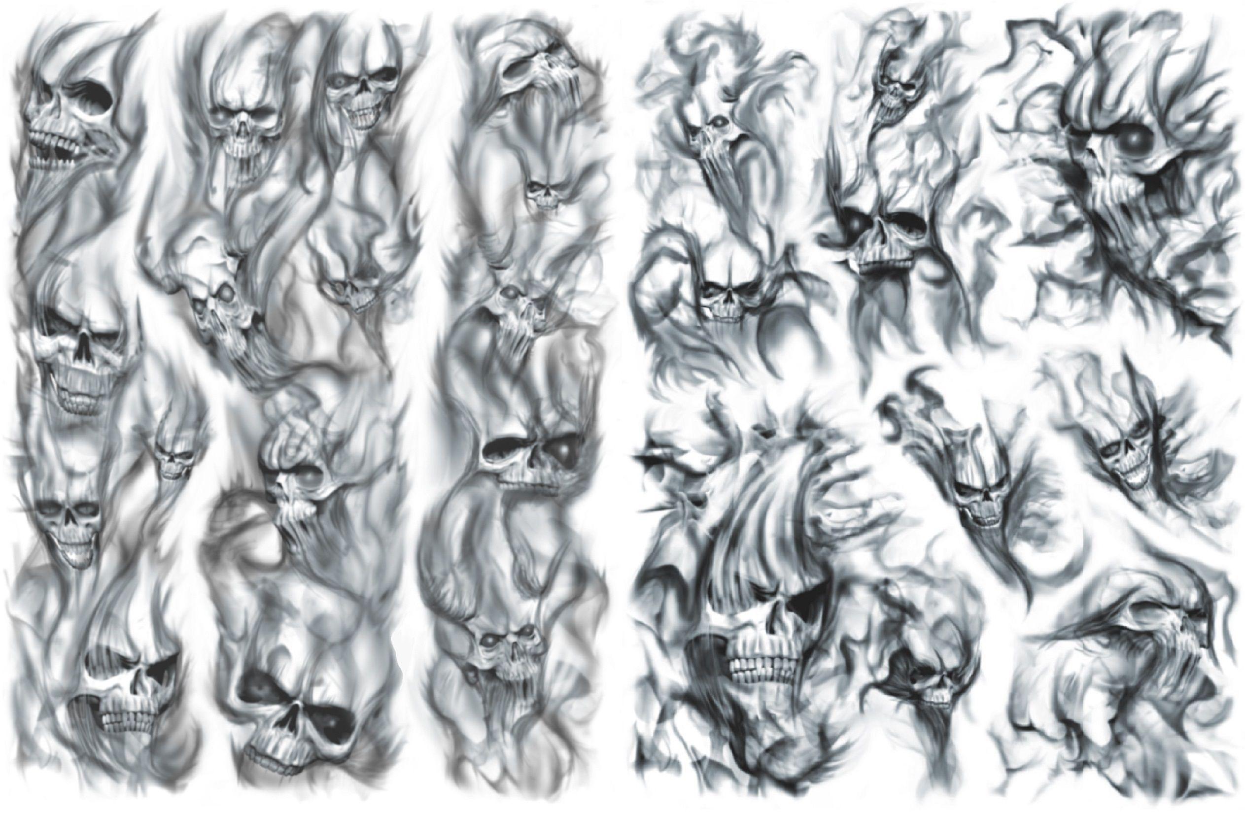 Skulls In Smoke Filler Tattoo Skull Sleeve Tattoos Tattoo Sleeve Filler Tattoo Filler