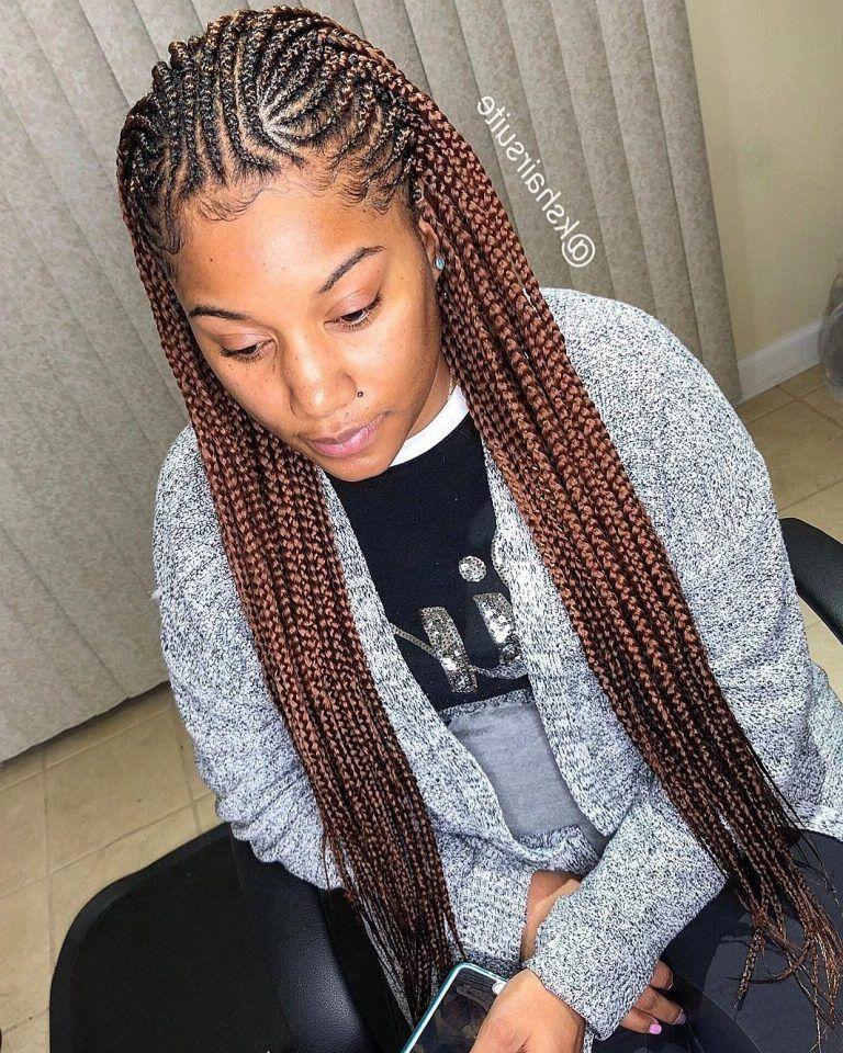 35 Pretty Box Braids For Black Women 2019 Best Wedding Style Braids For Black Women Braided Hairstyles Box Braids Hairstyles