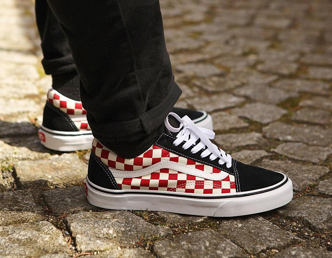 860c26789994 Vans Old Skool Checker Black Red White www.popname.cz