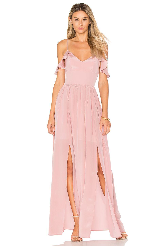 Amanda Uprichard Wren Maxi en Soft Mauve | REVOLVE | dress 1 ...