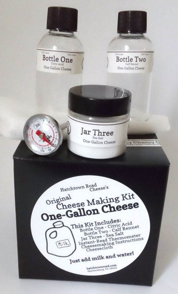 The Original One-Gallon Cheese Kit.  This is such a fun gift idea