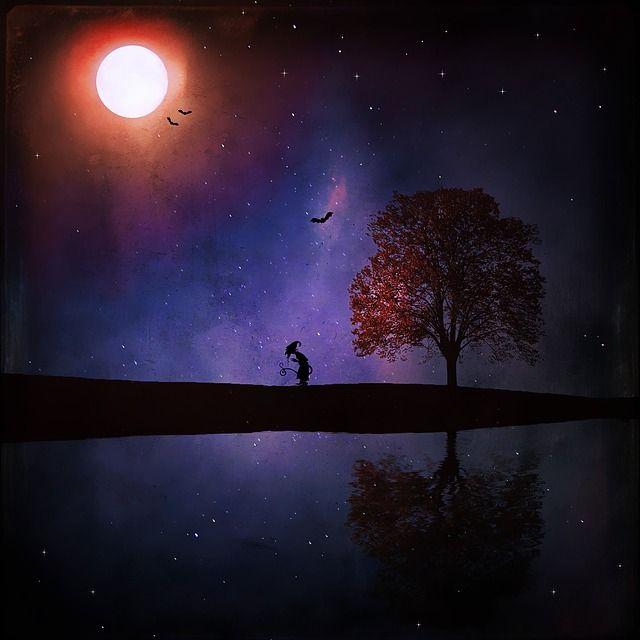 Free Image On Pixabay Landscape Night Dark Mystical Spiritualite