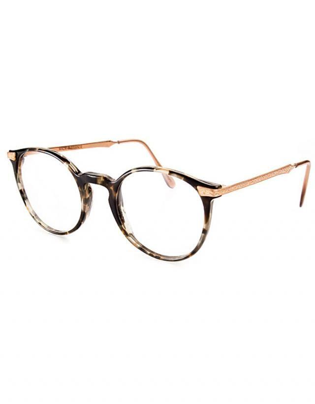 d308c3f0c87557 schöne  brille im  retrolook. Styllische Brillenmodelle für coolen Look  trotz Brille. Derzeit modern sind große runde Gläser mit dunklem Rand und  gold ...