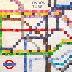 london tube quilt tube map patchwork quilt underground subway ... : patchwork quilt patterns uk - Adamdwight.com