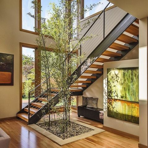 Open Stairs Atrium Design Ideas, Pictures, Remodel, and Decor - page