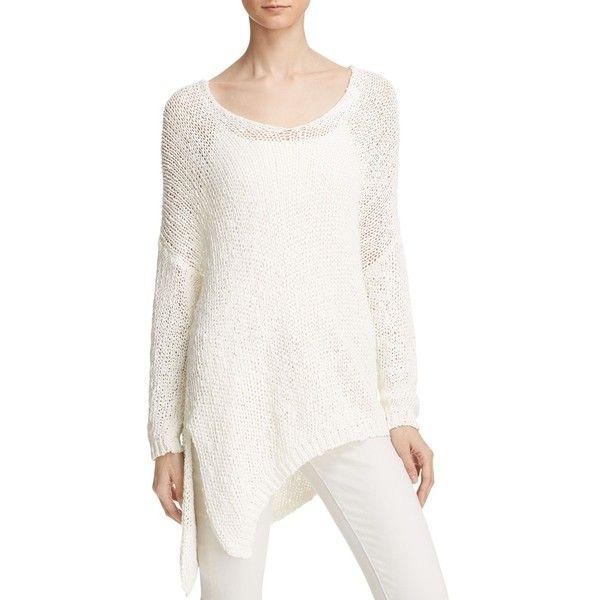 Free People Vertigo Asymmetric Hem Sweater ($77) ❤ liked on Polyvore  featuring tops,. Oversized Knit ...
