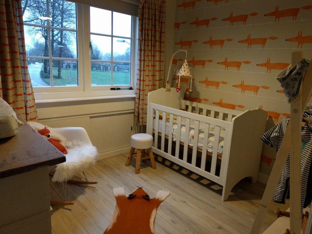 Mr Fox behang en gordijnen. Vosjeskamer | kinderkamer | Pinterest
