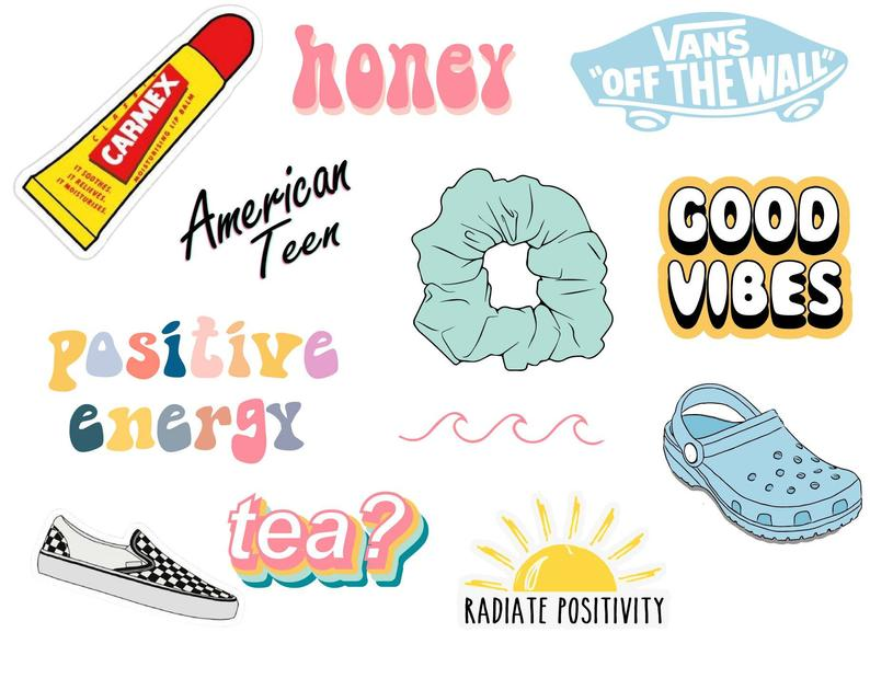 Vsco stickers   Aesthetic stickers, Cute laptop stickers ...