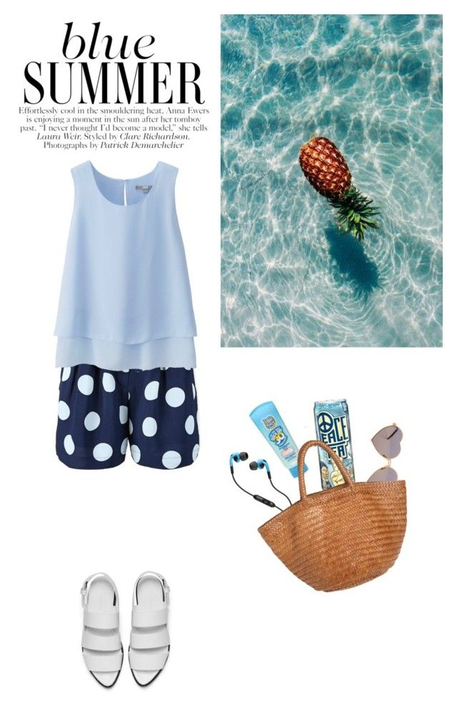 """""""Blue Summer"""" by sweetcucumber ❤ liked on Polyvore"""