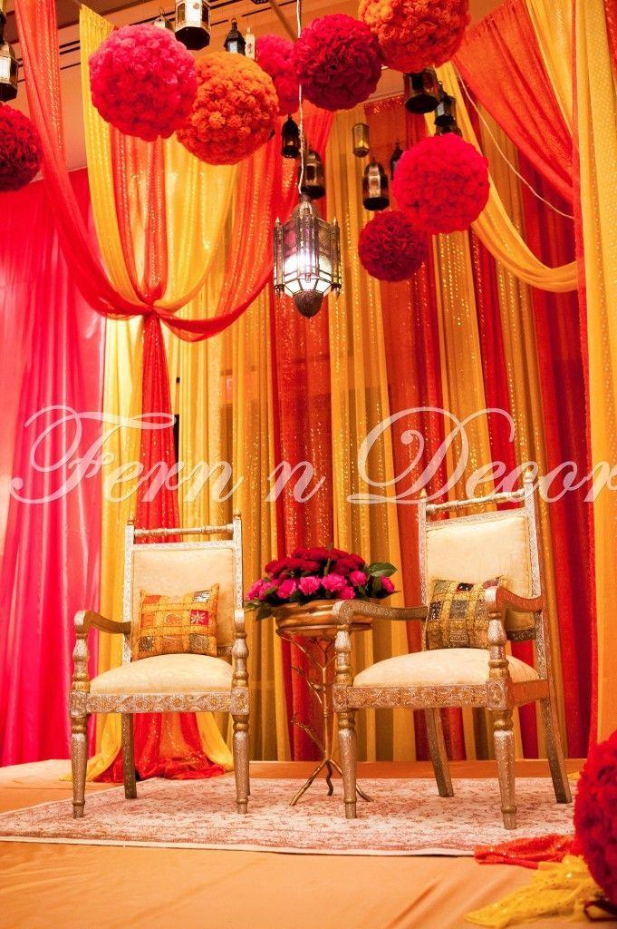 Yellow Orange Mendhi Wedding Theme Google Search
