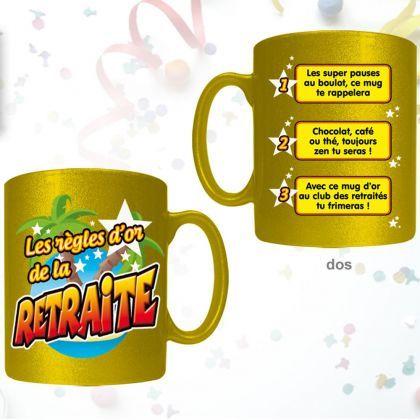 Idée Cadeau Retraite Homme.Mug Règles D Or De La Retraite Cadeau Départ Retraite