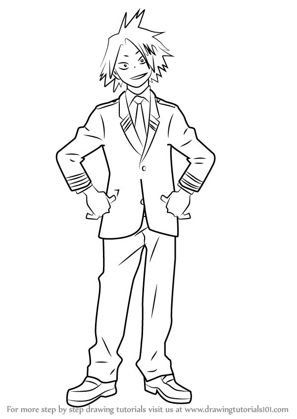 Learn How To Draw Denki Kaminari From Boku No Hero Academia Boku No Hero Academia Step By Step Dra How To Draw Anime Eyes My Hero Academia Episodes My Hero