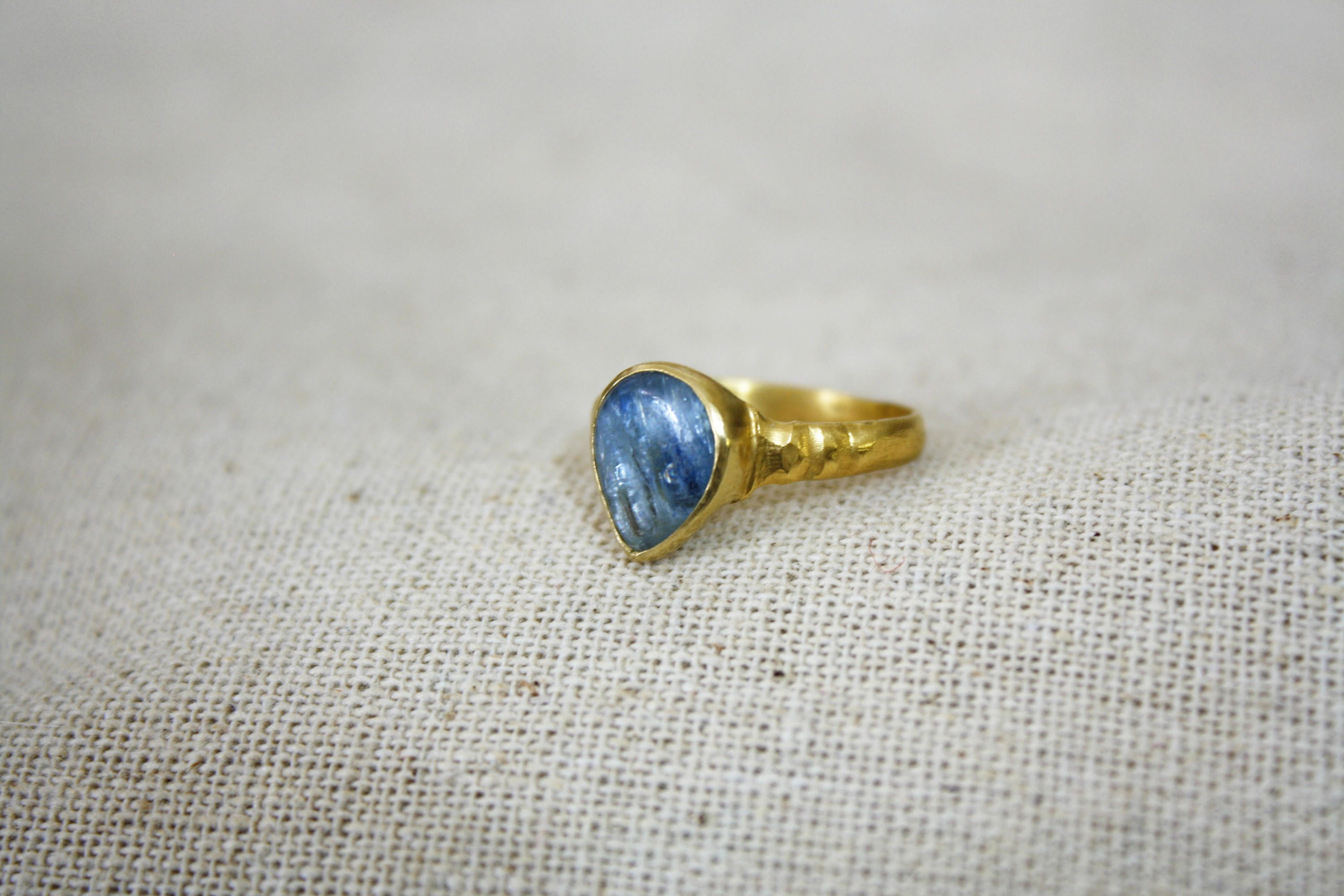 store ring kyanite detailed bohemian deka rings