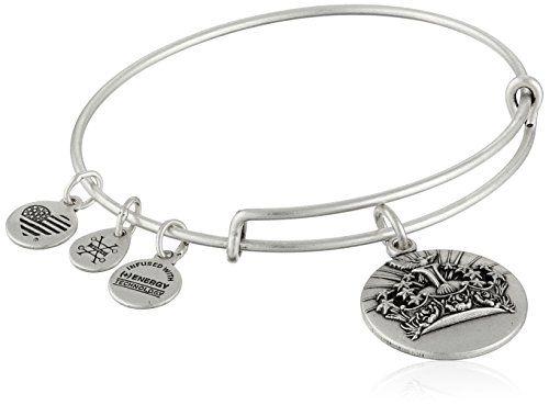 Alex and Ani Queen's Crown Expandable Charm Bracelet, Rafaelian Silver-Tone