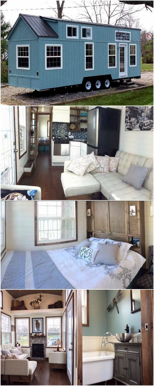 Luxurious And Spacious Tiny House On Wheels For Sale For 89 500 Tiny House On Wheels Tiny House Plans Tiny House Inspiration