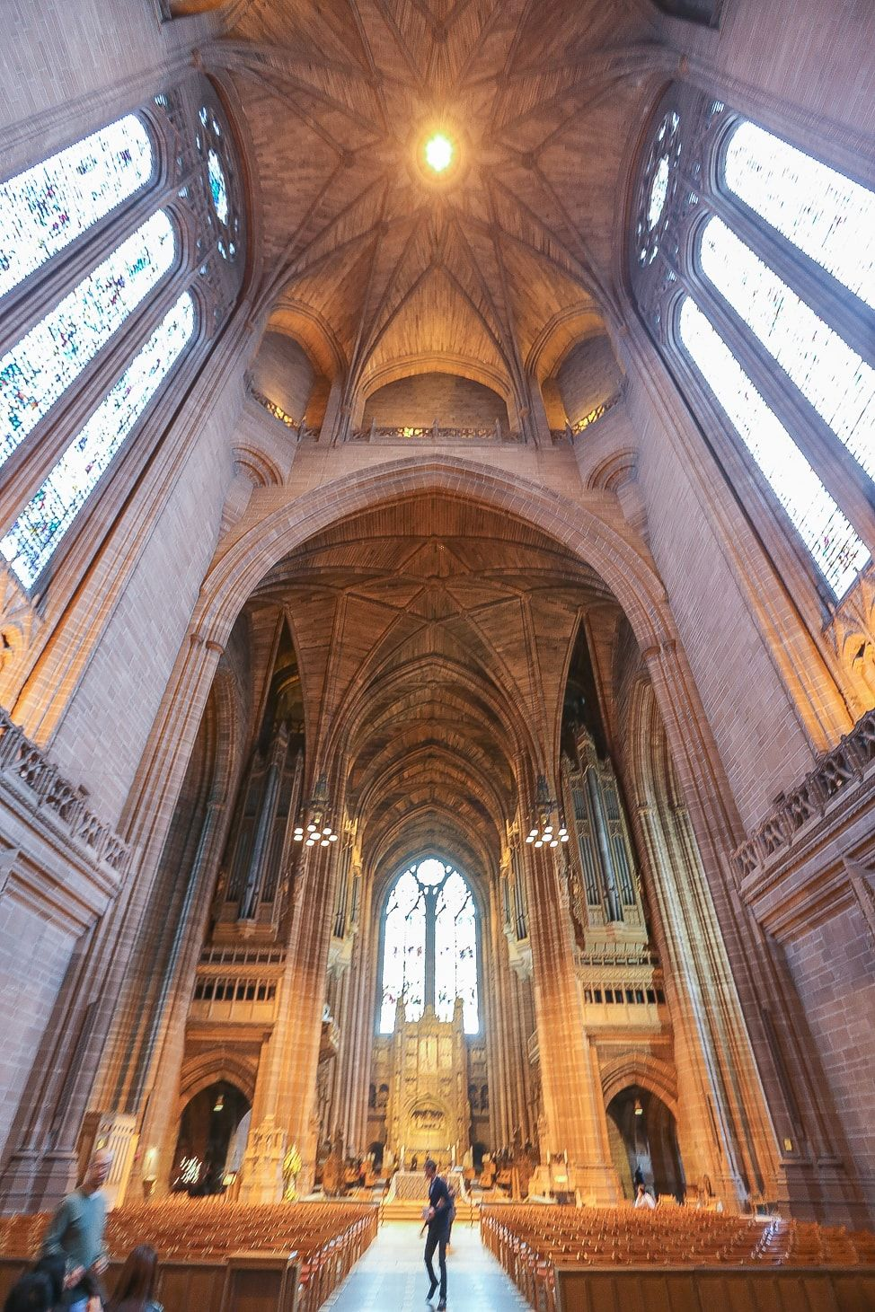 Liverpool, England  Liverpool Cathedral, one of England's relics that survived two world wars, is one of the most spectacular buildings in the world and well worth a visit if you're passing through the UK.