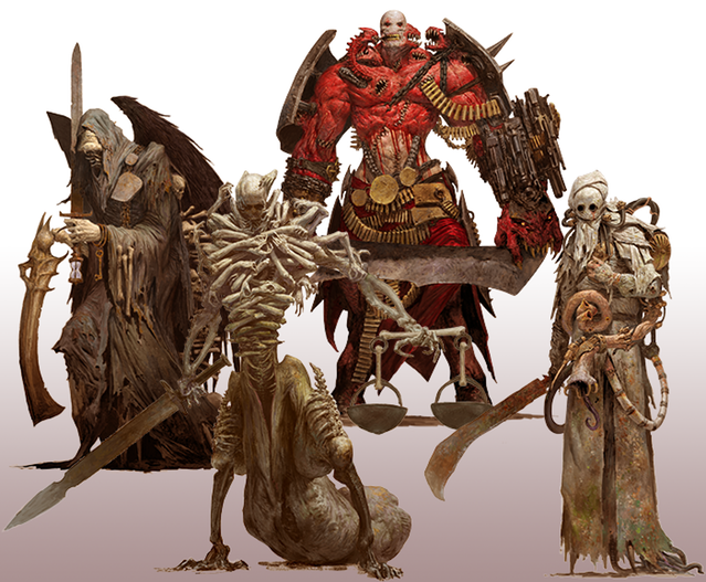 The Avatars of Death, Famine, War, and Pestilence, by Adrian Smith.
