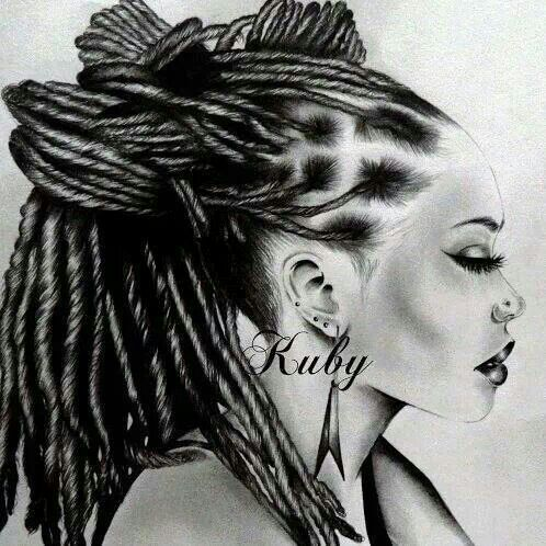 locs art ruby #drawings black