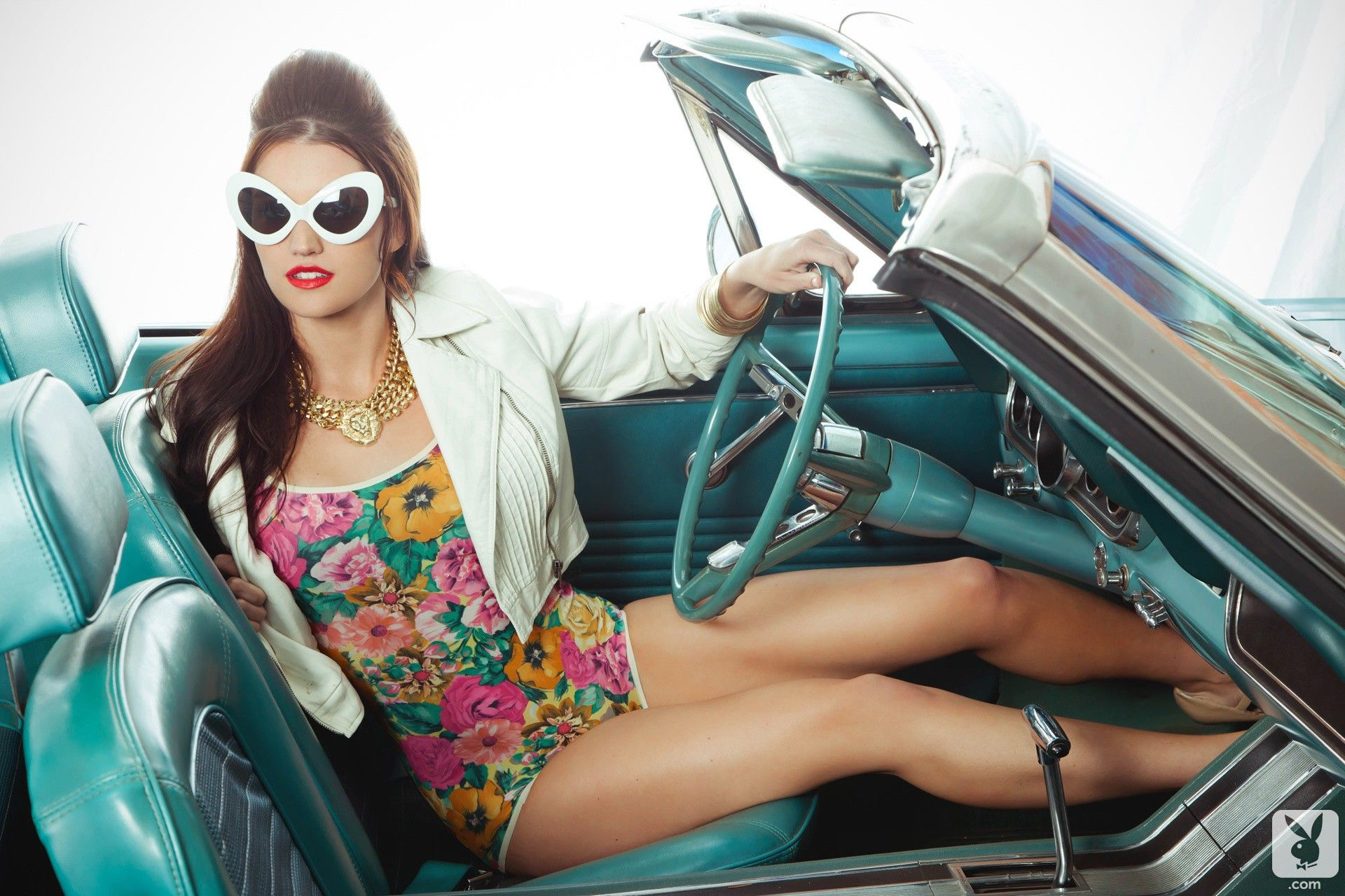 Jade Roper Playboy Pics Top jade roper does retro playboy classic photoshoot in mustang