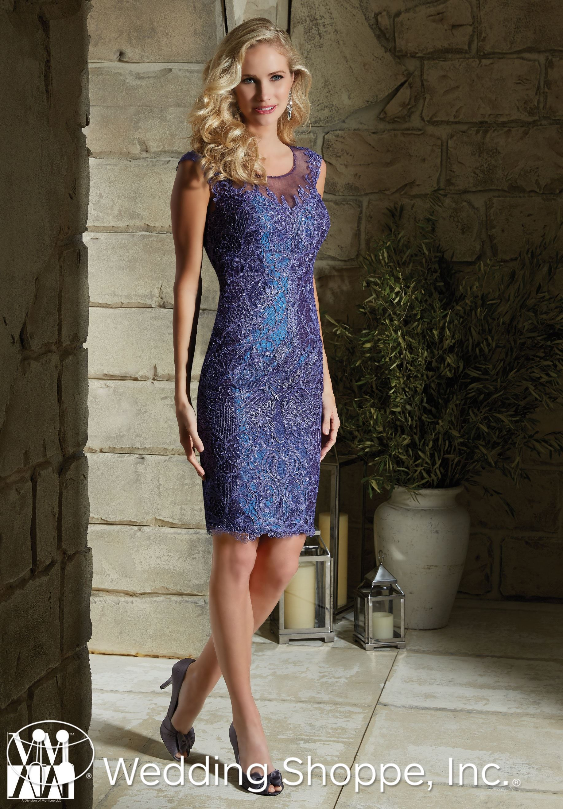 A Beautiful Blue Knee Length Dress For The Mother Of The Bride Or