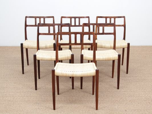 Phenomenal Rio Rosewood Model 79 Dining Chairs By Niels Otto N O Unemploymentrelief Wooden Chair Designs For Living Room Unemploymentrelieforg