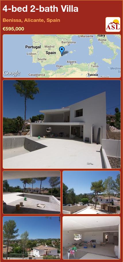 4 Bed 2 Bath Villa In Benissa Alicante Spain Save