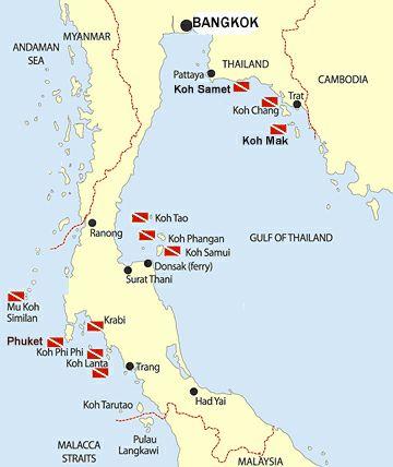 Islas De Tailandia Mapa.Mapa Islas De Tailandia Tailandia Viajes A Tailandia Y Islas
