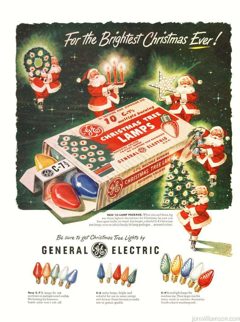 Ge Christmas Tree Lights.Ge Christmas Tree Bulbs Lights Advertisement Ad Christmas