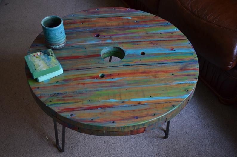 multi coloured old boat wood style