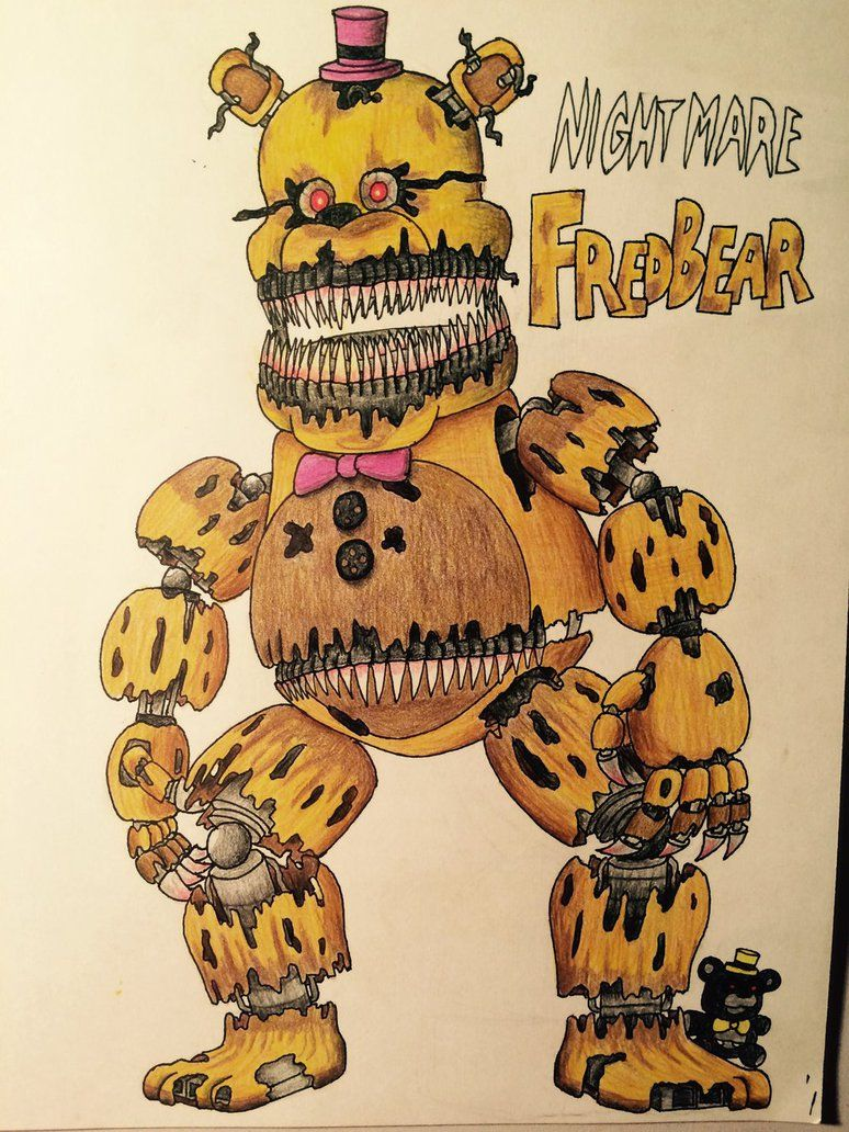 Nightmare Fredbear by DrGoldenstar on DeviantArt http