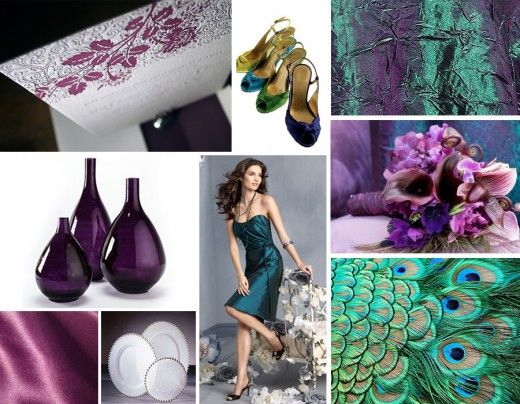 teal and purple wedding colors that compliment purple wedding