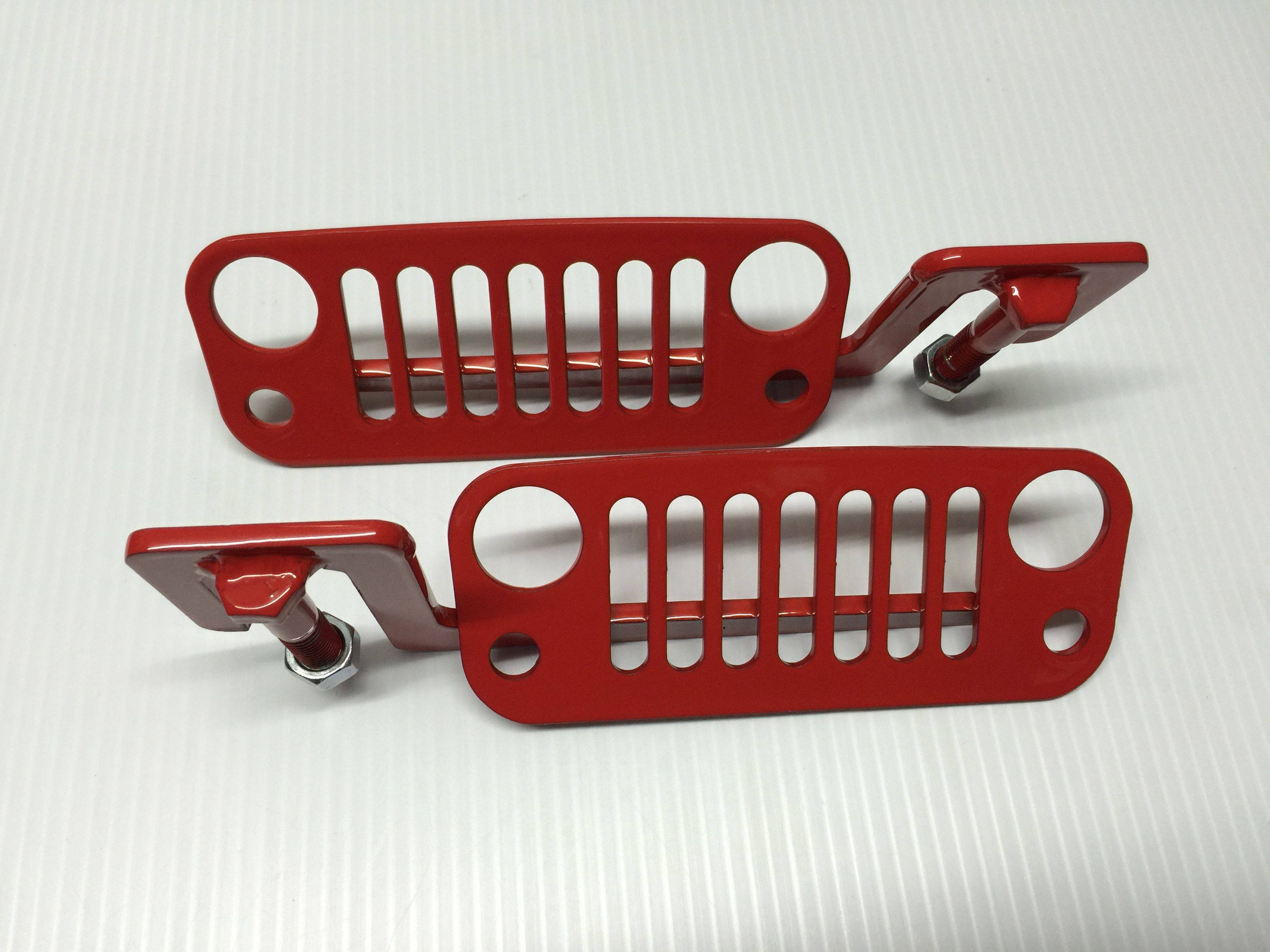Jk Wrangler Jeep Foot Pegs Red 2007 2018 100 Made In The Usa