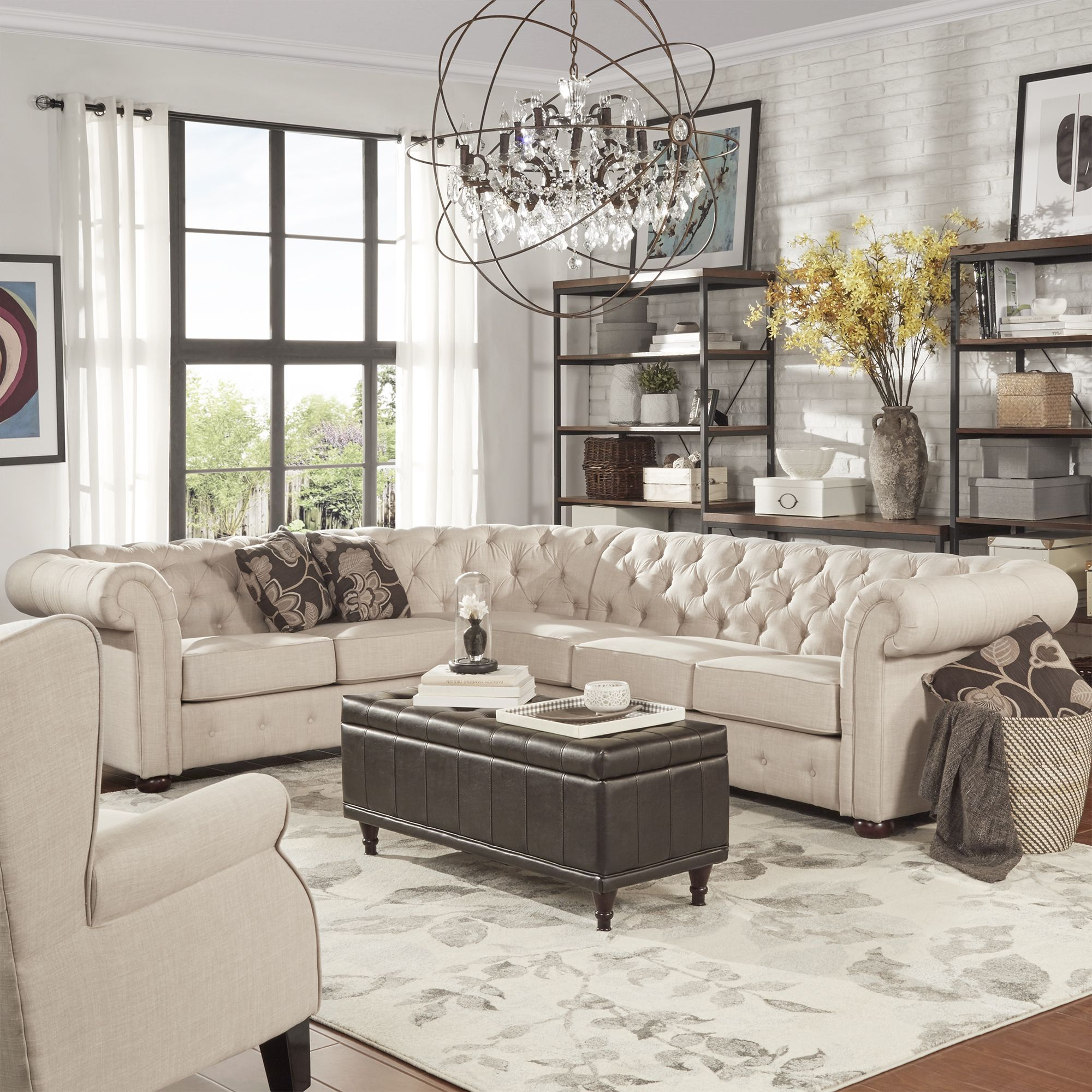 Best 25 Tufted sectional sofa ideas on Pinterest