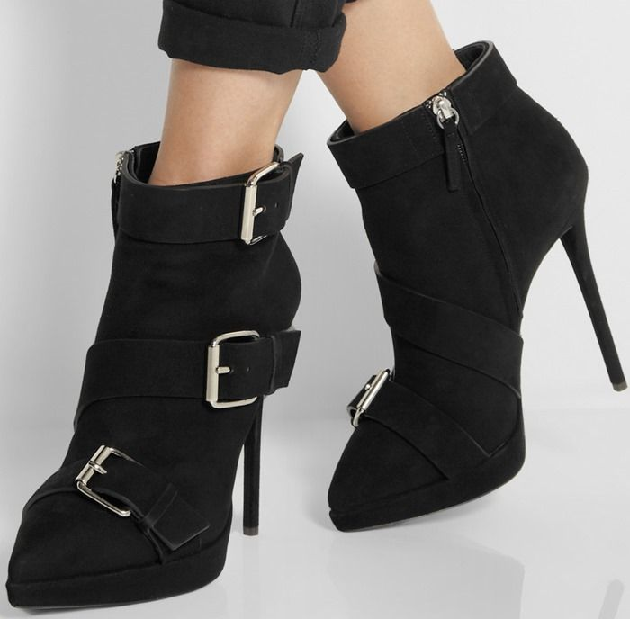 Giuseppe Zanotti Suede Buckle Ankle Booties latest for sale cheap best seller clearance 2014 new Xk5BJymLn