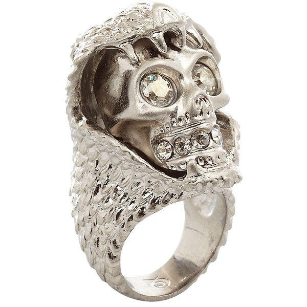 Alexander McQueen snake and skull ring - Metallic 8hbydZQ6wr