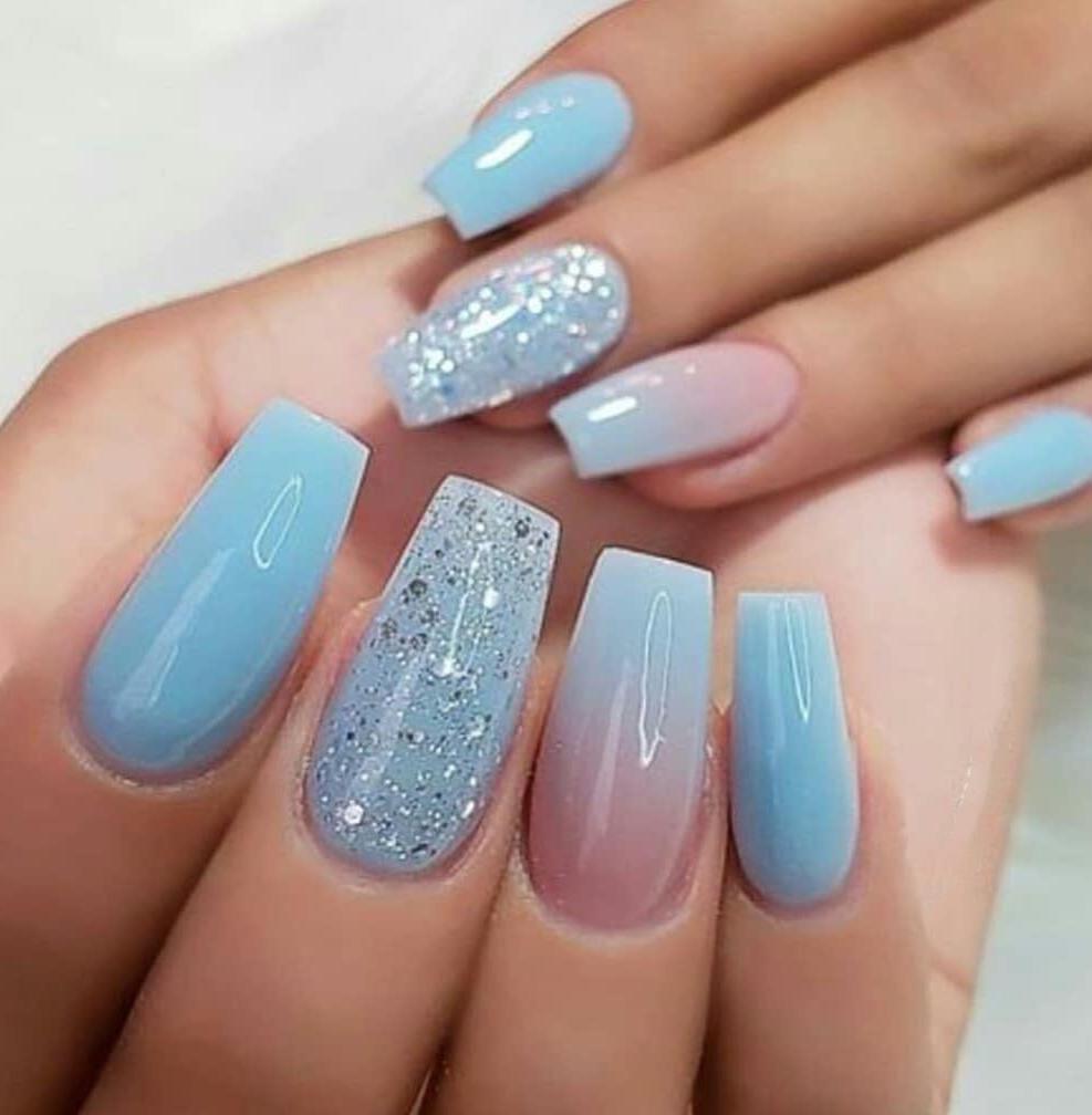 50 Awesome Aqua Blue Nails Designs Ideas In 2020 Aqua Blue Nails Designs Aqua Blue Nails With Glitter In 2020 Blue Nail Designs Light Blue Nails Stylish Nails Designs