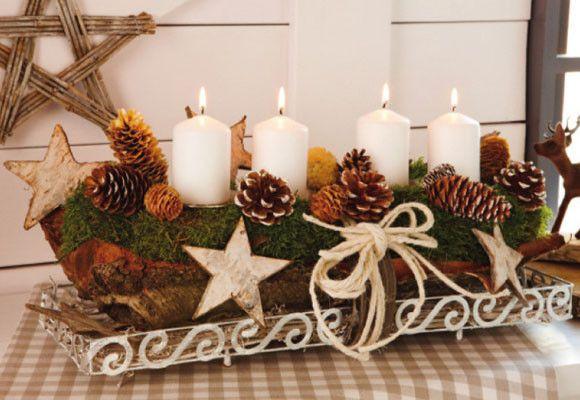 Ideas para decorar velas en navidad navidad corona de for Ideas para decorar la casa en navidad