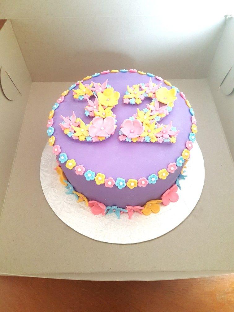 32nd Birthday Cake Birthday Cake 32 Birthday Cupcake Cakes