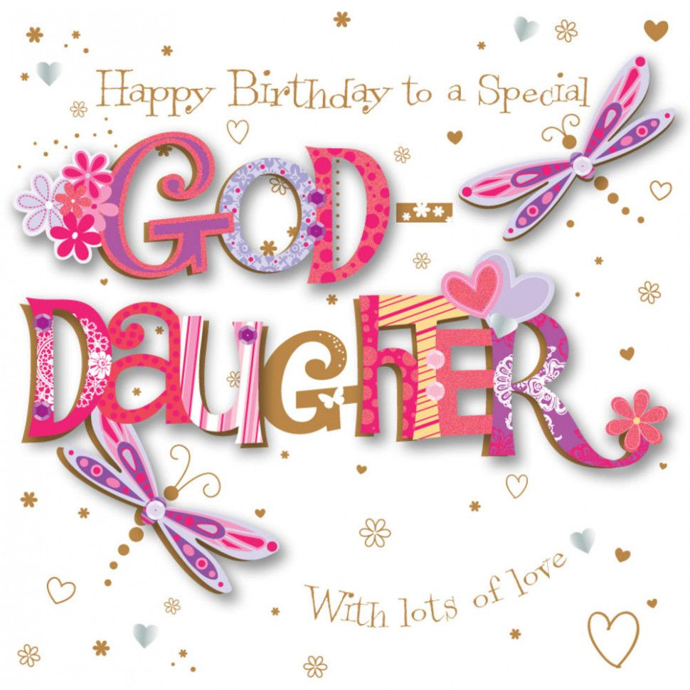 Goddaughter Card Birthday Goddaughter Birthday Handmade Embellished Greeting Card Birthday Cards Daughter Of God 30th Birthday Wishes