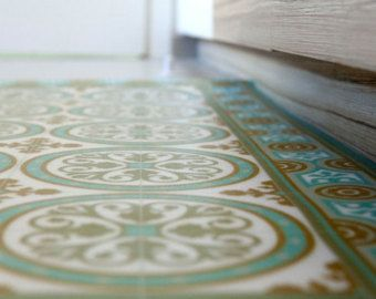 PVC Vinyl Mat Tiles Pattern Decorative Linoleum Rug PVC Rug - Vinyl matte fliesen