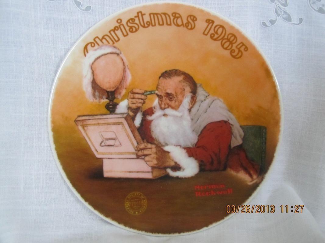 """Grandpa Plays Santa"" Norman Rockwell Plate."