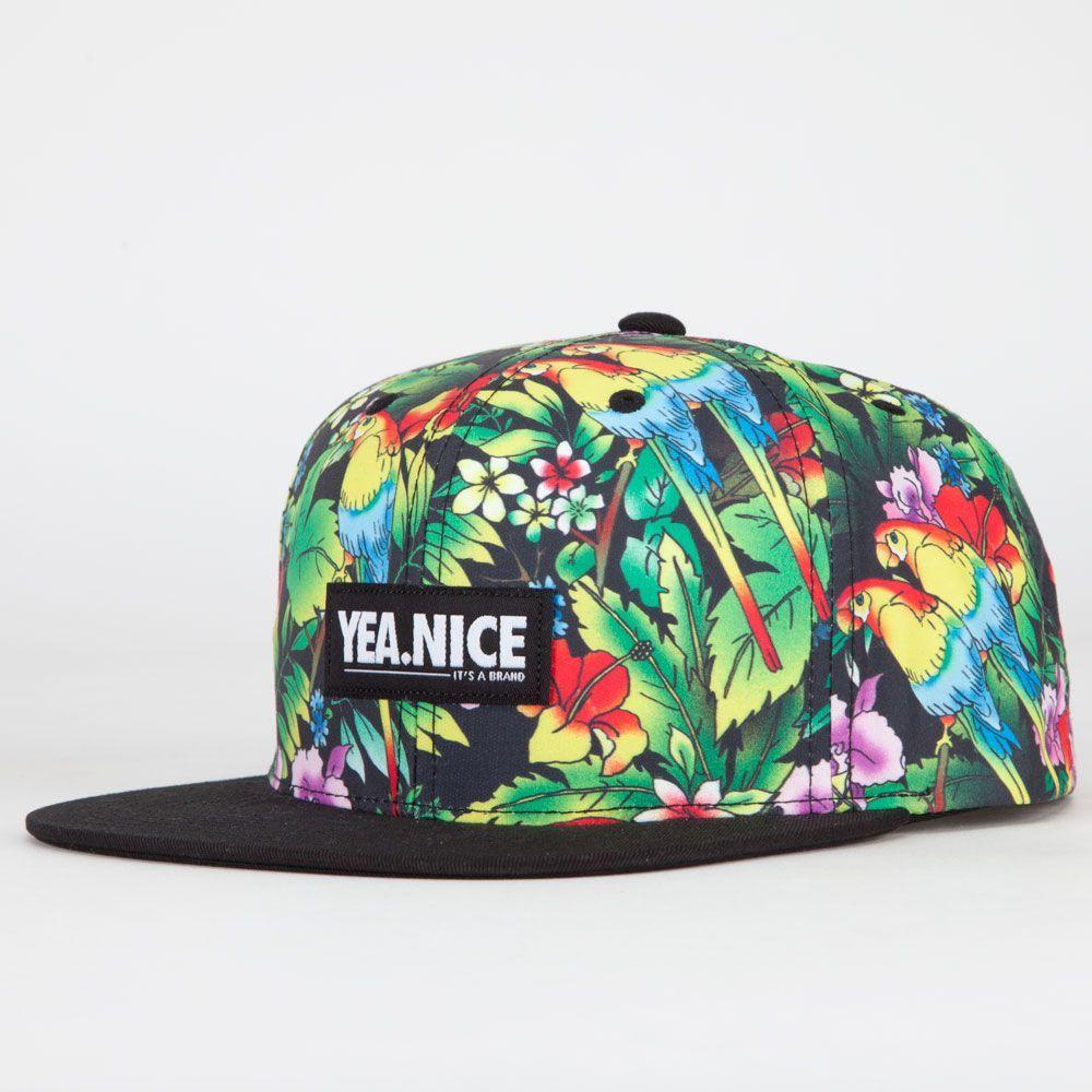 YEA.NICE Parrots Mens Snapback Hat  fbaae70db6c